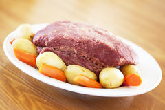 Traditional Corned Beef Dinner Royalty Free Stock Photos