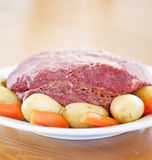 Traditional Corned Beef Dinner Stock Images