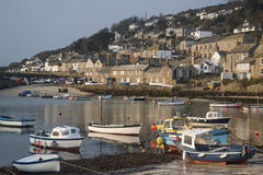 A traditional Cornish fishing village and harbor Royalty Free Stock Photography