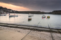 A traditional Cornish fishing village Royalty Free Stock Photos