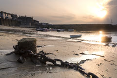 A traditional Cornish fishing village Royalty Free Stock Images
