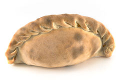 Traditional cornish pasty. Isolated on white Stock Photos