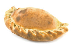 Traditional cornish pasty. Isolated on white Royalty Free Stock Image