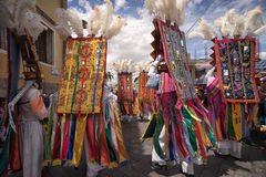 Traditional Corpus Christi parade in Pujili Ecuador Royalty Free Stock Images