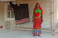 Traditional Costume of Kutch-Gujarat Royalty Free Stock Photography