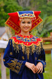 Traditional Costume of Negeri Sembilan. The tradisional costume of Negeri Sembilan is a prominent feature from Minang people (Bukit Tinggi).The resplendent Royalty Free Stock Photography