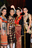 Traditional costumes of Malaysia. royalty free stock image