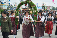 Traditional Costumes at the Oktoberest Royalty Free Stock Photos