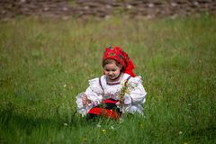 Traditional costumes from Romania , Maramures county. UNESCO World Heritage royalty free stock photos