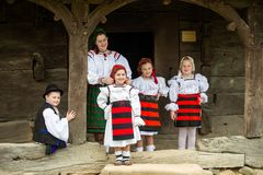 Traditional costumes from Romania , Maramures county. UNESCO World Heritage stock photo