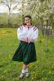 Traditional costumes from Romania , Maramures county. UNESCO World Heritage stock image