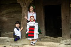 Traditional costumes from Romania , Maramures county. UNESCO World Heritage royalty free stock photography