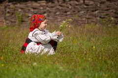 Traditional costumes from Romania , Maramures county. UNESCO World Heritage royalty free stock photo