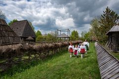 Traditional costumes from Romania , Maramures county. UNESCO World Heritage stock images
