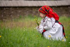 Traditional costumes from Romania , Maramures county. UNESCO World Heritage royalty free stock image