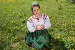 Traditional costumes from Romania , Maramures county. UNESCO World Heritage stock photography