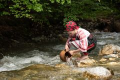 Traditional costumes from Romania , Maramures county. UNESCO World Heritage stock photos