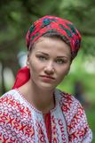 Traditional costumes from Romania , Maramures county stock photos