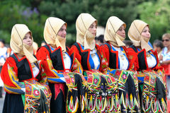 Traditional costumes of Sardinia. Royalty Free Stock Photography
