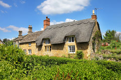 Traditional Cotswold Stone Village Cottages Royalty Free Stock Photography