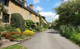 Traditional Cotswold Stone Village Cottages Stock Image