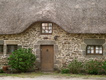 Traditional cottage. Taken in Brittany, France stock photo