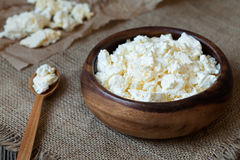 Traditional cottage cheese protein diary product Royalty Free Stock Photography