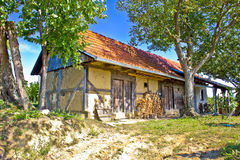 Traditional cottage made of wood and mud Royalty Free Stock Images