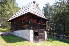 Traditional Cottage, Mount Zlatibor, Serbia. Cottage with crosses dates back in 1845. The building belonged to Dobrosavljević family from village Draglica royalty free stock images