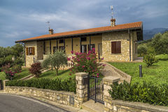 Traditional cottage in northern Italy Royalty Free Stock Photo