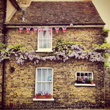 Traditional Cottage in Sandwich, Kent. Shot traditional english cottage during the Jubilee celebrations Royalty Free Stock Images