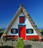 Traditional cottage in Santana (Madeira, Portugal) Royalty Free Stock Images