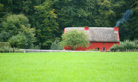 Traditional cottage with thatched roof Royalty Free Stock Photos