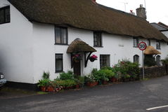 Traditional Cottage In Wheddon Cross Stock Photography