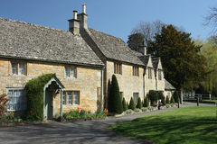 Traditional cottages in Lower Slaughter, Cotswolds Royalty Free Stock Photos