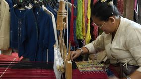 Traditional Cotton Woven. stock footage