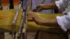 Traditional cotton woven. stock video