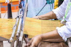 Traditional cotton woven. Stock Photo