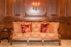 Traditional Couch in setting Royalty Free Stock Image