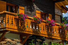 Traditional country house in switzerlands alps Stock Image
