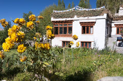 Traditional countryside tibetian house, Ladakh, India Royalty Free Stock Image