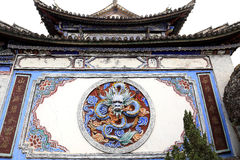 Traditional Court Yard Wall in Dali, China. Royalty Free Stock Photography