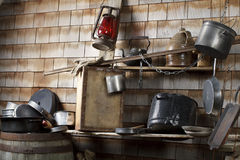 Traditional cowboy makeshift camp kitchen Royalty Free Stock Images