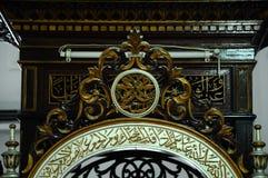 Traditional craft at the mimbar of The Abidin Mosque in Kuala Terengganu, Malaysia Stock Photo