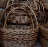 Traditional craft. Wicker baskets detailed Royalty Free Stock Photo