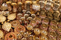 Traditional crafted vases of India Royalty Free Stock Images