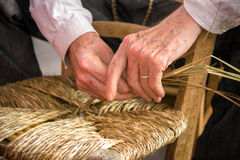 Traditional crafts - The chair-mender Stock Images
