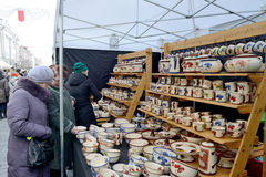 Traditional crafts fair, Vilnius Royalty Free Stock Photos