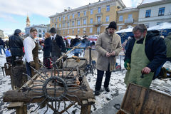 Traditional crafts fair, Vilnius Stock Images