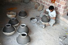 Traditional craftsmanship in India Royalty Free Stock Image